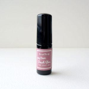 桃の産毛のようなほわほわした触感が新しいマットタイプのトップジェル。